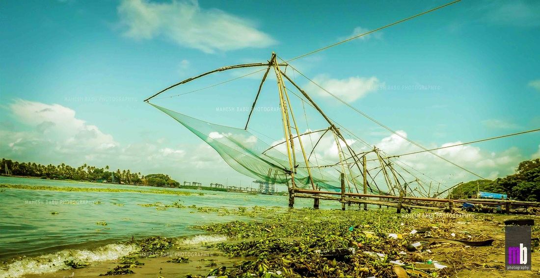 a sunny view of fort kochi - mahesh babu photography